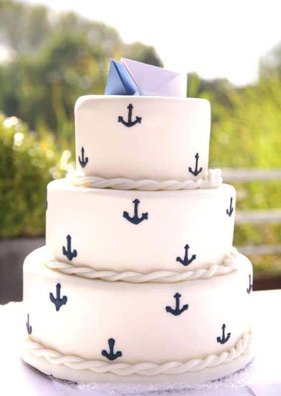 Maritime Hochzeitstorte Haus Brink